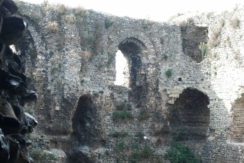 The remains of Canterbury Castle