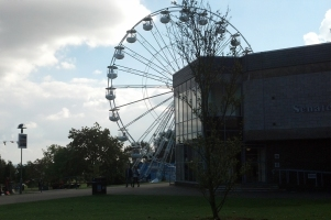 The 'Kent Eye' on the University of Kent campus, copied from the London Eye.