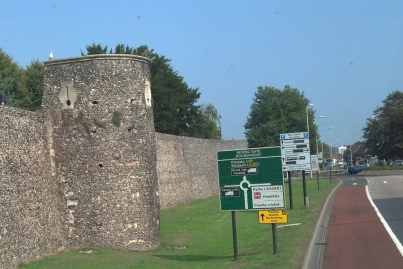 The original Canterbury city walls