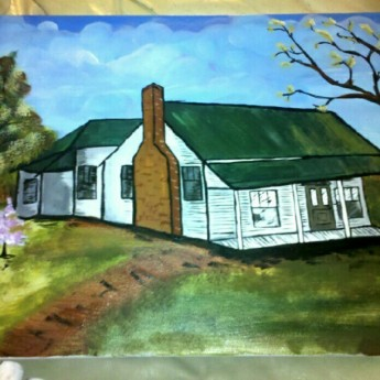 Finished Painting of Baker Homestead