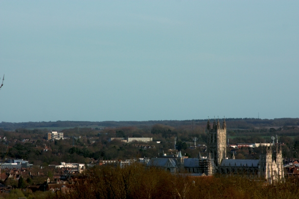 Canterbury, Cathedral: view from University of Kent