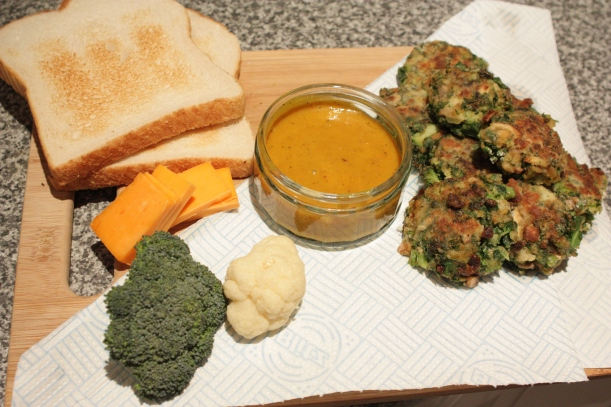 Kale Broccoli and Mushroom Burger with Spicy Mustard Sauce